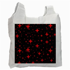 Bright Red Stars In Space Recycle Bag (two Side)  by Costasonlineshop