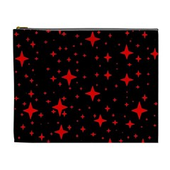 Bright Red Stars In Space Cosmetic Bag (xl) by Costasonlineshop