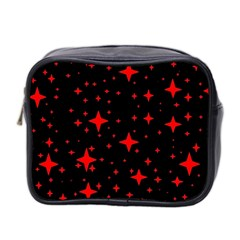 Bright Red Stars In Space Mini Toiletries Bag 2 Side by Costasonlineshop