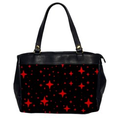 Bright Red Stars In Space Office Handbags by Costasonlineshop