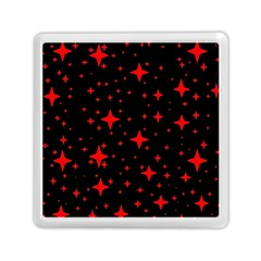 Bright Red Stars In Space Memory Card Reader (square)  by Costasonlineshop