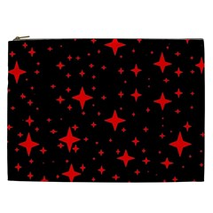 Bright Red Stars In Space Cosmetic Bag (xxl)  by Costasonlineshop