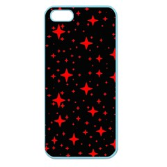 Bright Red Stars In Space Apple Seamless Iphone 5 Case (color) by Costasonlineshop