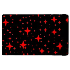 Bright Red Stars In Space Apple Ipad 2 Flip Case by Costasonlineshop