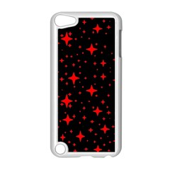 Bright Red Stars In Space Apple Ipod Touch 5 Case (white) by Costasonlineshop