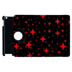 Bright Red Stars In Space Apple Ipad 2 Flip 360 Case by Costasonlineshop
