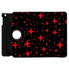 Bright Red Stars In Space Apple Ipad Mini Flip 360 Case by Costasonlineshop