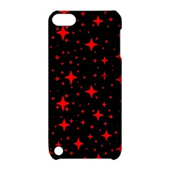 Bright Red Stars In Space Apple Ipod Touch 5 Hardshell Case With Stand by Costasonlineshop