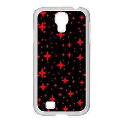 Bright Red Stars In Space Samsung Galaxy S4 I9500/ I9505 Case (white) by Costasonlineshop