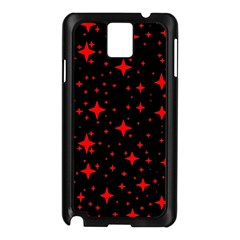 Bright Red Stars In Space Samsung Galaxy Note 3 N9005 Case (black) by Costasonlineshop