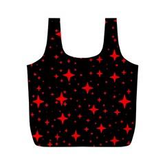 Bright Red Stars In Space Full Print Recycle Bags (m)  by Costasonlineshop