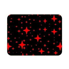 Bright Red Stars In Space Double Sided Flano Blanket (mini)  by Costasonlineshop