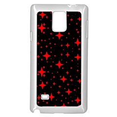 Bright Red Stars In Space Samsung Galaxy Note 4 Case (white) by Costasonlineshop