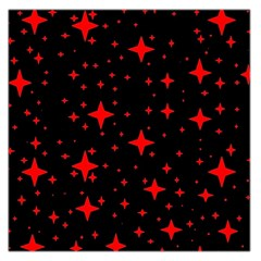 Bright Red Stars In Space Large Satin Scarf (square) by Costasonlineshop