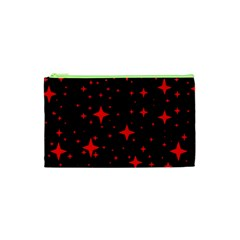 Bright Red Stars In Space Cosmetic Bag (xs) by Costasonlineshop