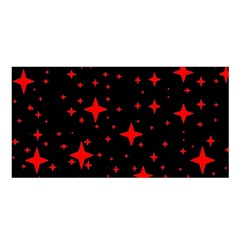 Bright Red Stars In Space Satin Shawl by Costasonlineshop