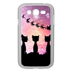 Cats Looking In The Sky At Santa Claus At Night Samsung Galaxy Grand Duos I9082 Case (white) by FantasyWorld7