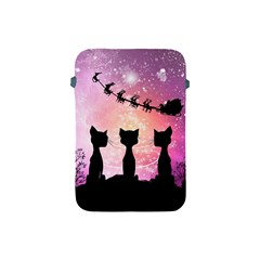 Cats Looking In The Sky At Santa Claus At Night Apple Ipad Mini Protective Soft Cases by FantasyWorld7