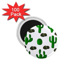 Cactuses 3 1 75  Magnets (100 Pack)  by Valentinaart