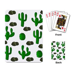 Cactuses 3 Playing Card by Valentinaart