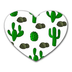 Cactuses 3 Heart Mousepads by Valentinaart