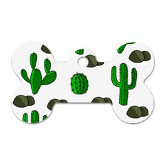 Cactuses 3 Dog Tag Bone (one Side) by Valentinaart