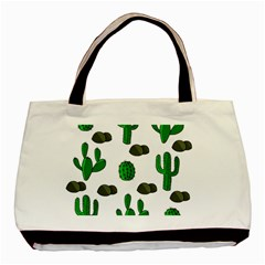 Cactuses 3 Basic Tote Bag (two Sides) by Valentinaart