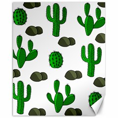 Cactuses 3 Canvas 11  X 14   by Valentinaart