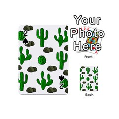 Cactuses 3 Playing Cards 54 (mini)  by Valentinaart