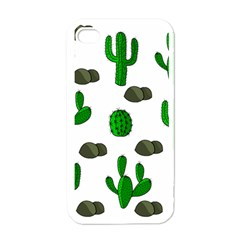 Cactuses 3 Apple Iphone 4 Case (white) by Valentinaart