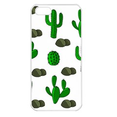 Cactuses 3 Apple Iphone 5 Seamless Case (white) by Valentinaart