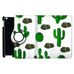 Cactuses 3 Apple Ipad 2 Flip 360 Case by Valentinaart