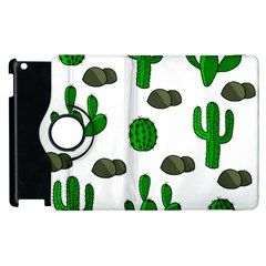 Cactuses 3 Apple Ipad 3/4 Flip 360 Case by Valentinaart