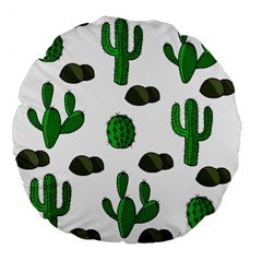 Cactuses 3 Large 18  Premium Flano Round Cushions by Valentinaart