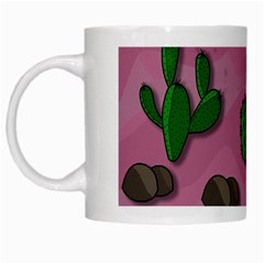 Cactuses 2 White Mugs by Valentinaart
