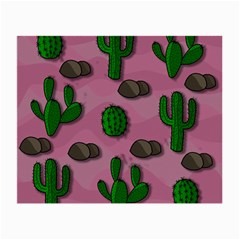 Cactuses 2 Small Glasses Cloth by Valentinaart