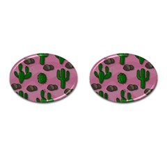 Cactuses 2 Cufflinks (oval) by Valentinaart