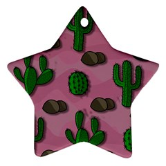 Cactuses 2 Star Ornament (two Sides)  by Valentinaart
