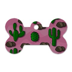 Cactuses 2 Dog Tag Bone (one Side) by Valentinaart