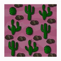 Cactuses 2 Medium Glasses Cloth (2 Side) by Valentinaart