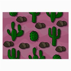 Cactuses 2 Large Glasses Cloth (2 Side) by Valentinaart