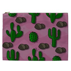 Cactuses 2 Cosmetic Bag (xxl)  by Valentinaart