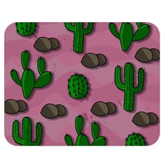 Cactuses 2 Double Sided Flano Blanket (medium)  by Valentinaart
