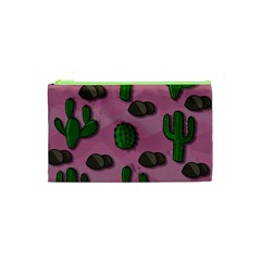 Cactuses 2 Cosmetic Bag (xs) by Valentinaart
