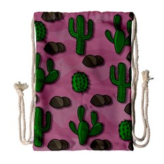 Cactuses 2 Drawstring Bag (large) by Valentinaart