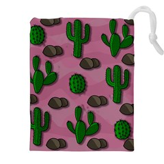 Cactuses 2 Drawstring Pouches (xxl) by Valentinaart
