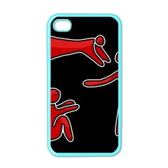 People Apple Iphone 4 Case (color) by Valentinaart