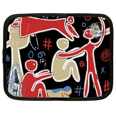 Family Netbook Case (large) by Valentinaart