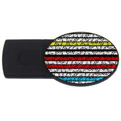 Simple Colorful Design Usb Flash Drive Oval (4 Gb)  by Valentinaart