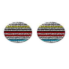 Simple Colorful Design Cufflinks (oval) by Valentinaart